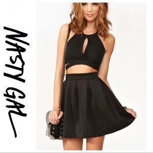 💕SALE💕NWT Nasty Gal Black Flare Skater Skirt